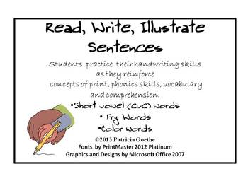 Read, Write, Illustrate Sentences