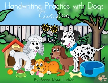 Handwriting Practice with Dogs: Cursive Style