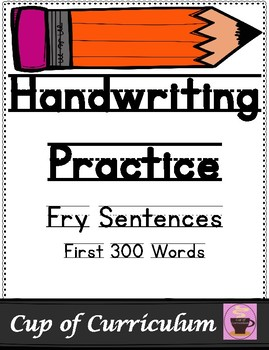 Handwriting Practice with Fry Sentences