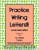 Handwriting Practice with Lowercase Letters FULL VERSION (12 pages)