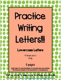 Handwriting Practice with Lowercase Letters Free Download (6 pages with border)