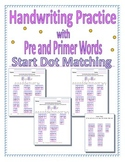 Handwriting Practice: Start Dot Matching and Fill-in the Missing Letter(s)