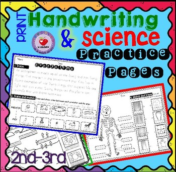 Handwriting Practice with Science Passages- PRINT version
