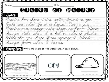 Handwriting Practice with Science Passages- CURSIVE version- DISTANCE LEARNING