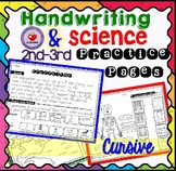 Handwriting Practice with Science Passages- CURSIVE versio