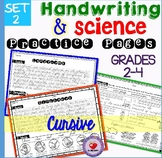 Handwriting Practice with Science Passages- CURSIVE version- set 2