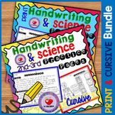 Handwriting Practice with Science Passages- PRINT and CURSIVE BUNDLE