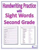 Handwriting Practice with Second Grade Sight Words