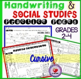 Handwriting Practice with Social Studies Passages CURSIVE