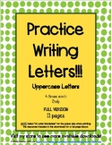 Handwriting Practice with Uppercase Letters FULL VERSION (12 pages)