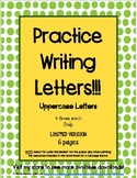 Handwriting Practice with Uppercase Letters LIMITED VERSION (6 pages)