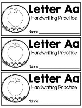 Handwriting Practice with the Alphabet