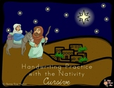 Handwriting Practice with the Nativity: Cursive Style