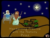 Handwriting Practice with the Nativity: Print Style