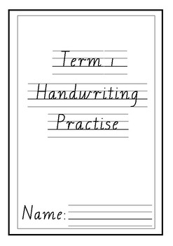 Handwriting Practise Booklet Victorian Modern Cursive lower case letters