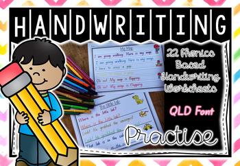 Handwriting Practise - Qld Foundation Level