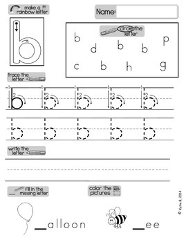 Handwriting Practise for Lowercase Letters A4