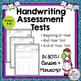 Handwriting Assessment Tests in Manuscript Handwriting and Cursive Handwriting