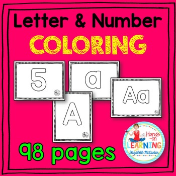 Letter and Number Coloring