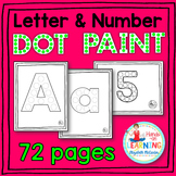 Letter and Number Dot Painting