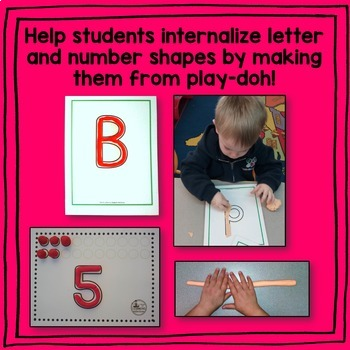 Letter and Number Play-Doh Mats
