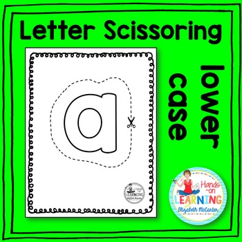 Lower Case Letter Scissoring