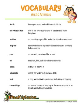 Handwriting Printables: Arctic Animals