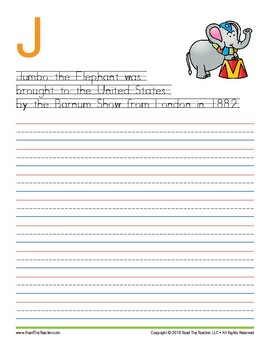 Handwriting Printables: The Circus