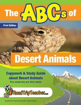 Handwriting Printables: Desert Animals