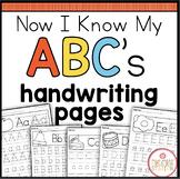 Alphabet Handwriting Printables {Now I Know My ABC's Series}