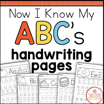 Alphabet Handwriting Printables {Now I Know My ABC's Series}