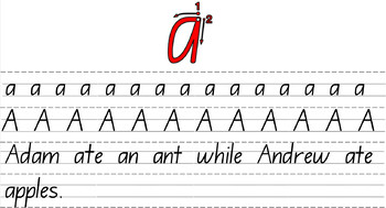 Handwriting Program and Display for IWB/Board NSW FOUNDATION FONT