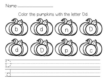 Handwriting Pumpkins