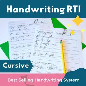Cursive Handwriting Practice Sheets and Tests by iHeartLiteracy | TpT