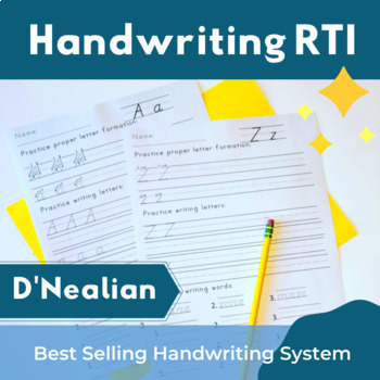 10 Effective Handwriting Tips For Your Students - D'Nealian Handwriting Practice Pack
