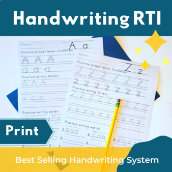 10 Effective Handwriting Tips For Your Students - Print Handwriting Practice Pack