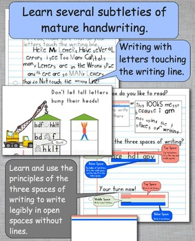 Handwriting Practice 3rd & 4th grade: Handwriting Without Tears STYLE FONT