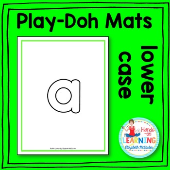 Lower Case Letter Play-Doh Mats