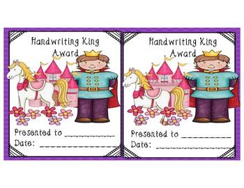 Handwriting Royalty Packet