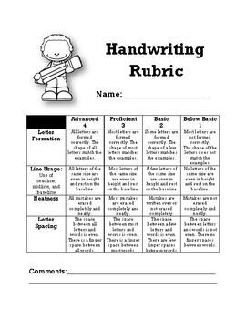 Handwriting Rubric