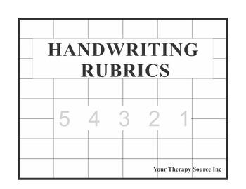 Handwriting Rubrics - PreK Through Grade 8