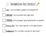 Handwriting Rules Checklist
