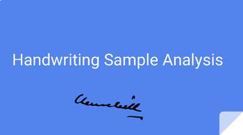 Handwriting Sample Analysis Powerpoint