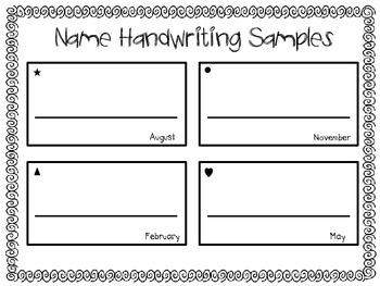 Name Handwriting Sample Form