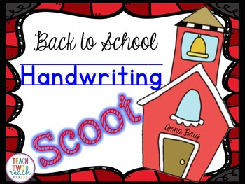 Handwriting Scoot - Back to School: Zaner Bloser and D'Nealian Styles