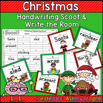 Christmas Handwriting Scoot or Write the Room