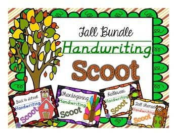 Handwriting Scoot- Fall Bundle - 4 Scoot Games