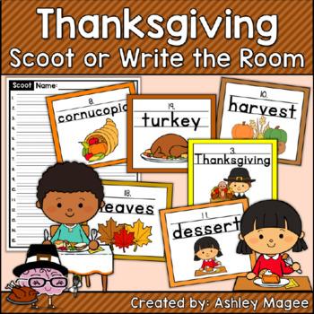Handwriting Scoot - Thanksgiving Edition