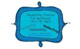 Handwriting & Sentence Work Practice Try Me Pack Freebie