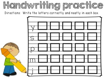 Handwriting, Sentence and Editing Practice Booklet